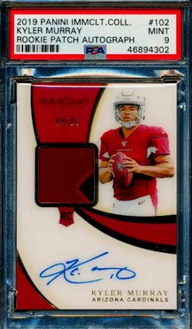 kyler murray Immaculate rookie card