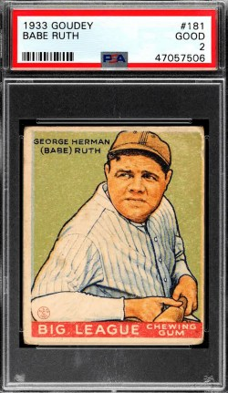 best 1933 Goudey baseball cards