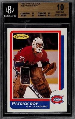 patrick roy best hockey rookie card