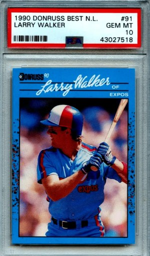 larry walker rookie card checklist
