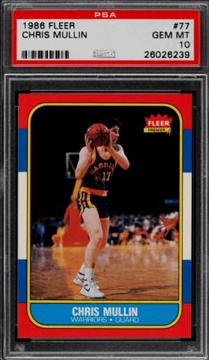 Chris Mullin rookie card Fleer