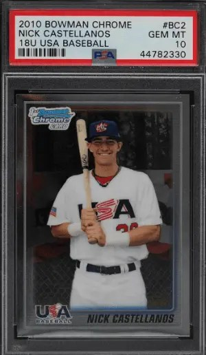 2010 Nick Castellano Bowman Chrome RC