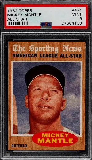 1962 Mickey Mantle Topps ALL-STAR