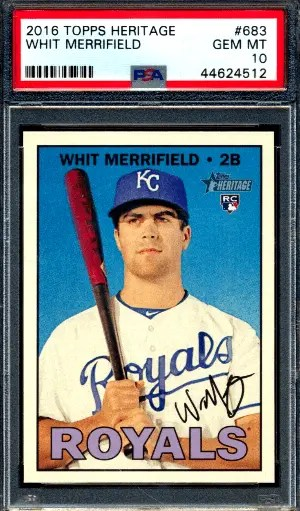 Whit Merrifield Topps rookie card