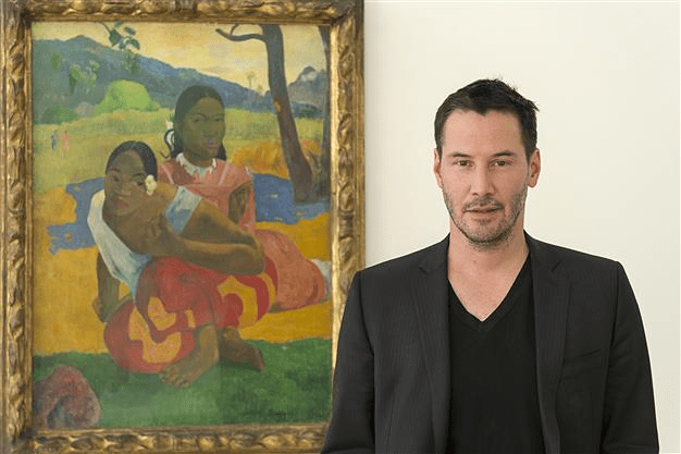 "Keanu Reeves and ""When Will You Marry"" Painting"