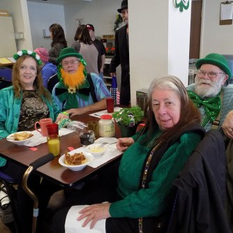Seniors dressed up for St Patrick's Day