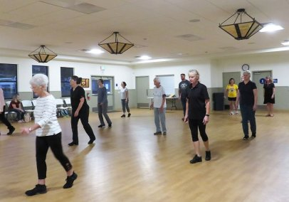 Line Dancing at the LOVE Bldg. in Grass Valley