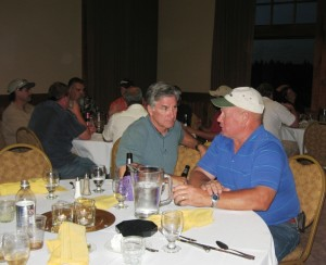 After a hard day of golf, everybody enjoyed drinks, dinner and good conversation at the Running Y Lodge