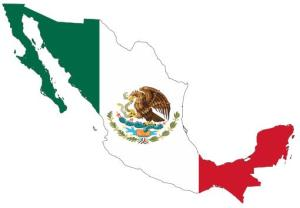 Mexico Flag/Map by Lokal_Profil @ Wikimedia Commons