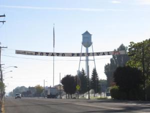 Banner in Merrill, Oregon, for 2010 Klamath Basin Potato Festival