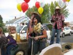 Nayeli Pena having fun at the 2010 Klamath Basin Potato Festival parade