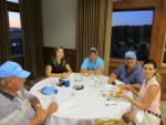 Ray Roebacker with Katie Selvog, Jared and Ron Marshall and Lexi Crawford at the Running Y Lodge