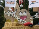 Potatoes representing Frito Lay and Hormel on Gold Dust's Potato Festival Parade Float