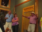John Walker telling guests about his fun day and long drive at the Running Y Ranch.
