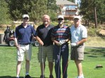 Kevin Kane, Joe Dahlen, Fernando Martinez and Chris Moudry at the Running Y Ranch golf course.