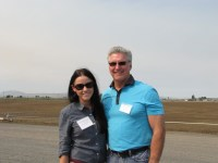 Paul Sproule with his daughter, Annie, at Gold Dust's Malin, Oregon packing shed at the 2013 Open House Field Day.