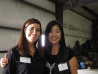 Lexi Crawford and Nancy Kim at Gold Dust Potato Processors' 2013 Open House Field Day.