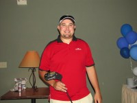 Jared Marshall took home Men's Longest Drive honors at Gold Dust Potato Processors' 2013 Open House Field Day golf scramble.