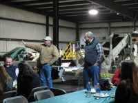 John Walker and his brother, Bill Walker, thank the farm and shed crews at the 2013 Gold Dust Shed Christmas Luncheon.