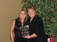 Sarah Mendez received recognition for stepping up in her position at Gold Dust, posing with Tricia Hill.