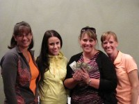 Dianne Spires, Annie Gorder,Tricia Hill, Kira Bousquet took home last place at Gold Dust's 2014 Open House Field Day golf scramble.