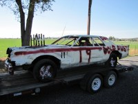 Gold Dust Potato Processors and Walker Brothers farm sponsored a car in the 2014 Tulelake Butte Valley Fair demolition derby.