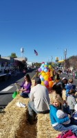 The Gold Dust Potatoes float makes it way down the highway at the 77th Annual Klamath Basin Potato Festival parade.