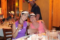 Lexi Crawford and Brenda Walker toast their second place award at Gold Dust's 2015 Open House Field Day Golf Scramble.