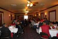 Gold Dust and Walker Brothers leaders enjoy dinner at Mr. B's in Klamath Falls, Oregon for the 2015 Leadership Dinner.