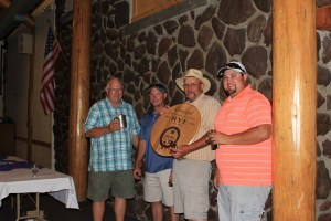 """Duane """"Sarge"""" Preston, Mike Henard, John Walker & Jared Marshall took home first place at the 16th Annual Gold Dust Open House Field Day Golf Tournament."""