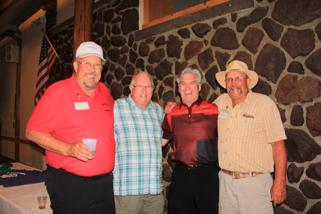Bill Walker, Sarge Preston, Paul Sproule and John Walker at the Reames Golf and Country Club for Gold Dust Potatoes' 2016 Open House Field Day.