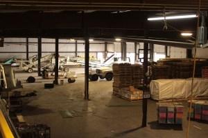 Gold Dust Potato Processors' Malin potato processing plant after shipping season.