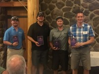 The first place team for Gold Dust and Walker Farms' 17th Annual Open House Field Day Golf Scramble was Drew Huffman, Thomas Sitzer, Matt Thompson and Joel Strunk at Reames' Country Club in Klamath Falls, Oregon.