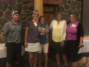 Gold Dust and Walker Brothers' Open House Field Day Golf Scramble Last Place team of Suzie Frederickson, Tammie Staunton, Dianne Spires and Tricia Hill at Reames' Country Club.