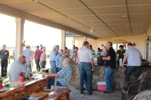 Gold Dust & Walker Farms' guests visiting at Bill and Jan Walker's Malin, Oregon home.