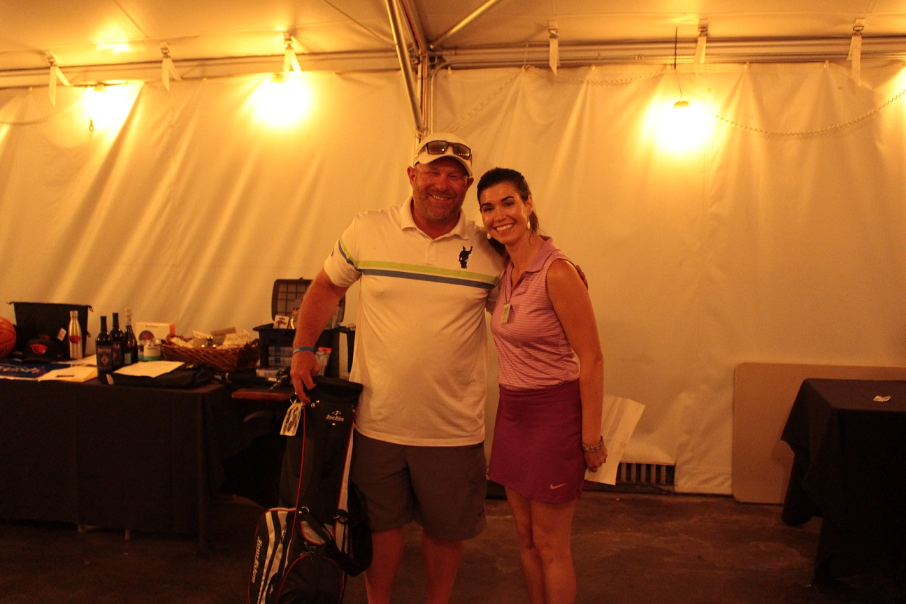 Ken Hibbard, Men's Long Drive Winner, with Lexi Crawford.