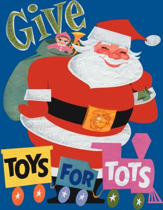 Toys For Tots Santa poster