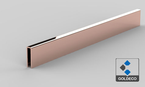 decorative rose gold stainless steel