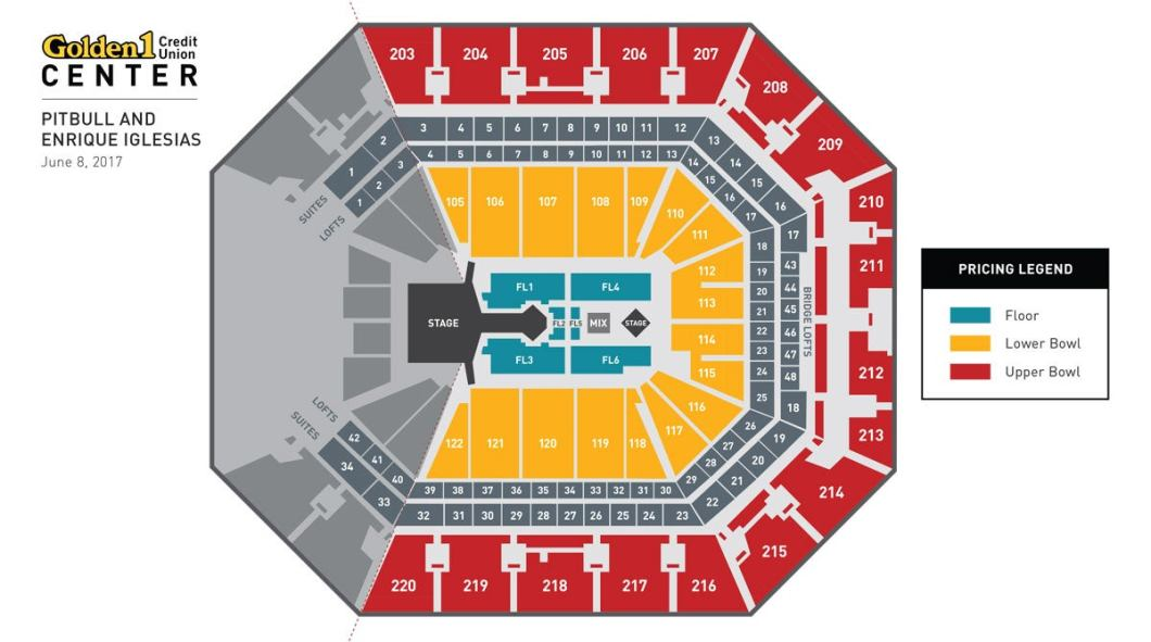 Save Mart Center Seating Chart With Seat Numbers Wallseatco