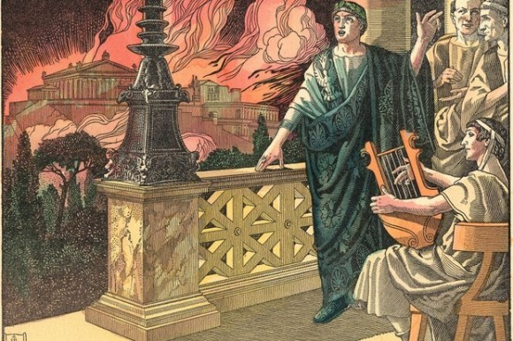 Did Emperor Nero really play the fiddle while Rome burned?