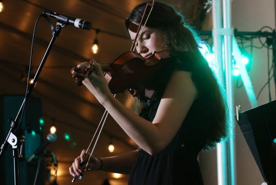 Heifetz Institute's summer student Kitty Amaral plays the violin during the Heifetz Hootenanny concert on Mary Baldwin University's campus on Saturday, July 20, 2019. (Photo: Holly Marcus/Special to The News Leader)
