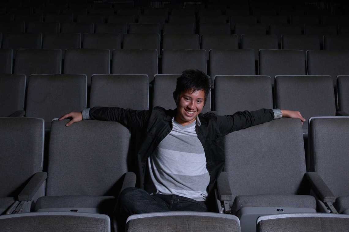 Andrew Wong, sophomore, poses for a portrait at Coppola Theater on Friday, Nov. 15, 2013. Wong was awarded Best Director and Best Picture for his film