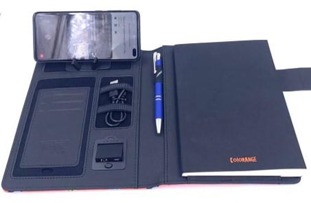 Libreta con powerbank y cargador inalámbrico KRNG 23