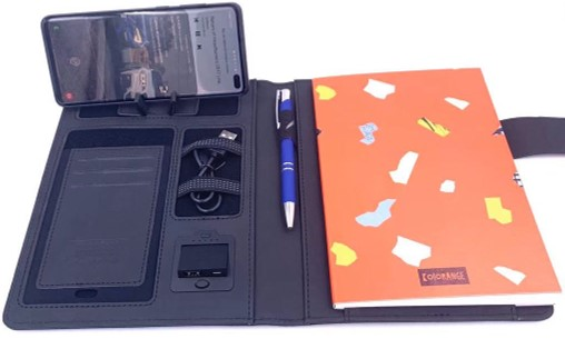 Libreta con power bank y cargador inalámbrico KRNG 24