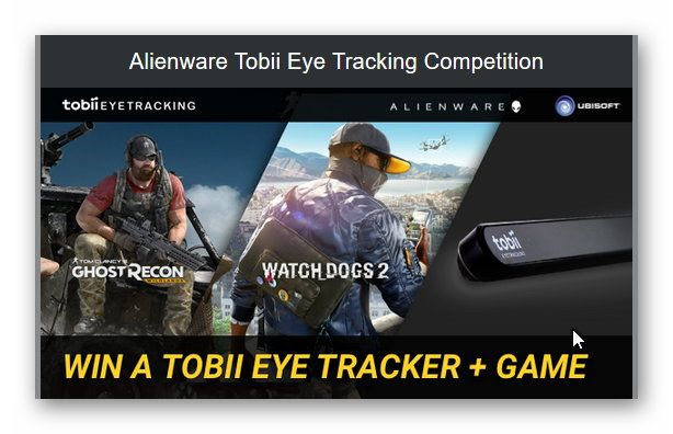 Alienware Tobii Eye Tracking Competition – Win a Tobii Eye
