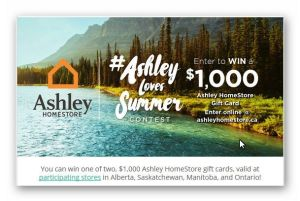 $1,000 Ashley HomeStore Gift Card