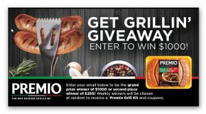 Premio Foods Get Grillin' Giveaway (11 winners total)