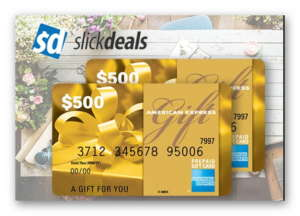 Win a $500 Amex Gift Card from Slickdeals