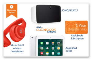 Win BIG this Audiobook Month - Daily Prizes from Audiobooks.com