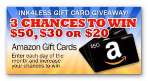 Ink4Less Gift Card Giveaway